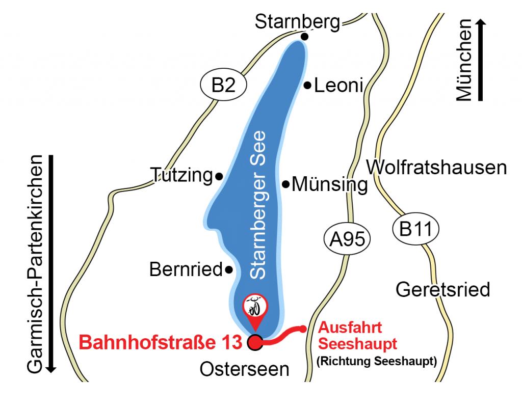 Anfahrt Zweirad Starnbergersee